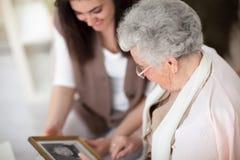 我的祖母记忆  库存图片
