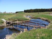 我的童年桥梁  库存图片