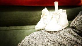 我的第一双鞋子 库存照片