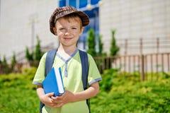 我的第一天在学校。 免版税库存图片