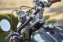 我的老自行车细节  免版税库存照片