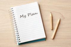 我的计划 库存照片