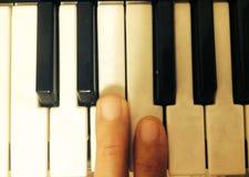 我的钢琴钥匙 免版税库存照片