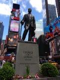 致以我的问候百老汇,乔治M Cohan,时代广场,纽约, NYC, NY,美国 库存照片