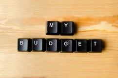 我的预算词 免版税库存照片