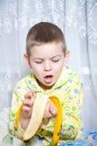 我的香蕉其中 免版税库存照片