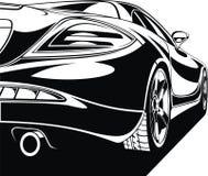 我的黑白设计汽车 库存照片