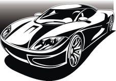 我的黑白设计汽车 库存图片