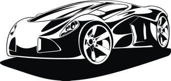 我的黑白设计汽车 免版税库存图片