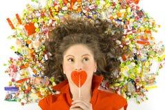 我的lollypop 免版税库存照片