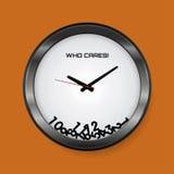 我穿上关于时间概念的` t关心 库存例证