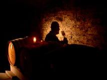 我精神葡萄酒 图库摄影
