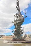 我纪念碑彼得 莫斯科 免版税库存图片