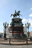 我纪念碑nikolay彼得斯堡圣徒 图库摄影