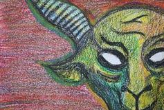 我绘的公山羊 免版税图库摄影