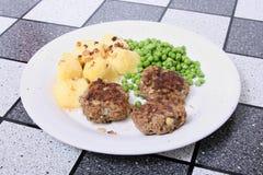 我肉蔬菜 免版税库存图片