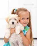 我获得了一条小的小狗 免版税库存图片