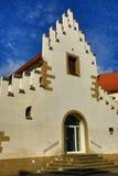 我西部漂泊画廊Masné krÃ的¡,老建筑学, Pilsen,捷克 免版税库存图片