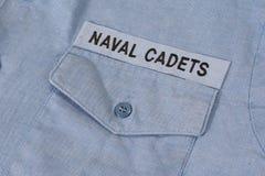 我们一致海军的军校学生 库存照片