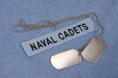 我们一致海军的军校学生 免版税库存图片