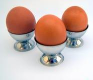 我们三个鸡蛋 免版税库存照片