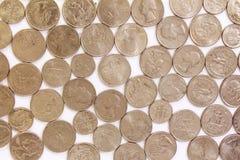 我们作为背景的硬币 免版税图库摄影