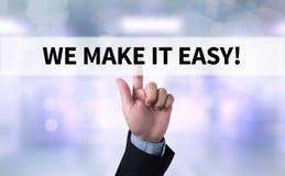 我们使它容易! 免版税图库摄影