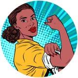 我们可以做它黑人妇女非裔美国人的流行艺术具体化charact 向量例证
