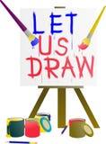 我们绘画和图画在颜色秀丽  免版税库存照片