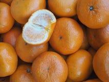 我们好健康的桔子 免版税库存图片