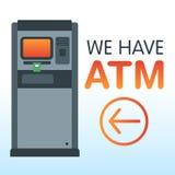 我们有ATM 图库摄影