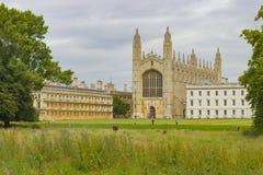 我们的剑桥的夫人和圣尼古拉国王学院  库存照片