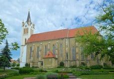 我们的匈牙利教会的夫人在凯斯特海伊镇,匈牙利 库存照片