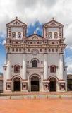 我们的卡门- Guatape,哥伦比亚的夫人教会  库存照片