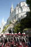 我们的卢尔德圣所大教堂-法国的夫人 免版税图库摄影