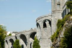 我们的卢尔德圣所大教堂-法国的夫人 免版税库存照片