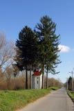 我们的卢尔德的夫人教堂在Drnek,克罗地亚 免版税库存图片