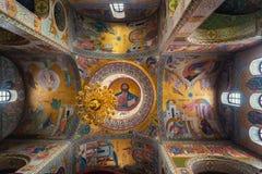 我们的喀山内部的夫人教会在下诺夫哥罗德 免版税图库摄影