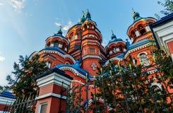 我们的喀山教会,伊尔库次克的夫人 免版税库存图片