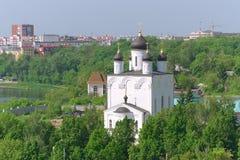 我们的喀山的夫人教会。俄罗斯,城市奥勒尔号。 免版税库存照片