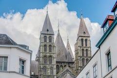 我们的图尔奈的夫人大教堂在比利时 库存照片