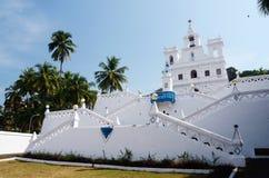 我们的圣母无染原罪瞻礼教会-果阿,帕纳吉,印度的夫人 库存图片