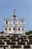 我们的圣母无染原罪瞻礼的夫人教会在帕纳吉,印度 免版税库存图片
