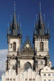 我们的在Tyn前的夫人教会在布拉格 免版税库存图片