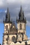 我们的在Tyn前的夫人教会在布拉格 免版税库存照片