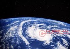 我们的地球上的飓风-美国航空航天局装备的这个图象的元素 图库摄影