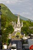 我们的夫人大教堂在卢尔德 免版税图库摄影