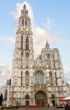 我们的夫人大教堂在安特卫普,比利时 库存照片
