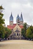 我们的夫人教会在哈尔贝尔斯塔特,德国 库存图片