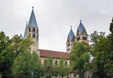 我们的夫人教会在哈尔贝尔斯塔特,德国 免版税图库摄影